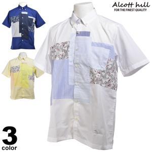 セール 50%OFF ALCOTT HILL アルコットヒル 半袖Tシャツ メンズ 春夏 胸ポケット キーネック 91-2101-10|realtree