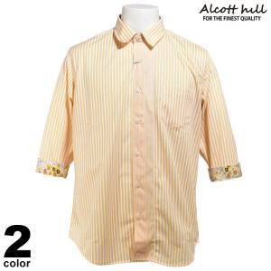 セール 50%OFF ALCOTT HILL アルコットヒル カジュアルシャツ 七分袖 メンズ 春夏 花柄 91-2402-10|realtree