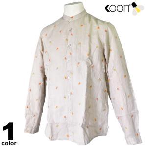 KOON クーン 長袖シャツ メンズ 2019春夏 とび柄刺繍 94-1005-45|realtree