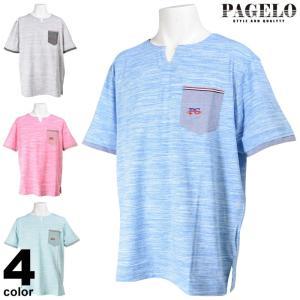 SALE 50%OFF パジェロ PAGELO 半袖Tシャツ メンズ 春夏 胸ポケット キーネック 94-2501-07|realtree