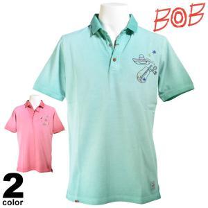 BOB ボブ 半袖ポロシャツ メンズ 2019春夏 鹿の子 刺繍 94-2801-59|realtree