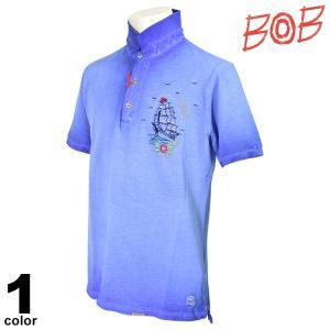BOB ボブ 半袖ポロシャツ メンズ 2019春夏 刺繍 94-2803-59|realtree