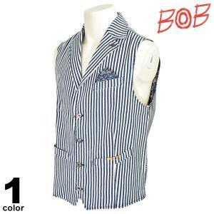 BOB ボブ ベスト メンズ 2020春夏 ストライプ 94-3504-59|realtree