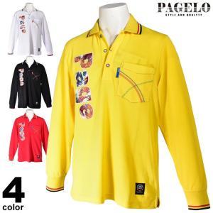 セール 70%OFF パジェロ PAGELO 長袖ポロシャツ メンズ 秋冬 胸ポケット付き ロゴアップリケ 95-1807-07|realtree
