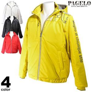 大きいサイズ パジェロ PAGELO ダウンジャケット メンズ 秋冬 フード ロゴ プリント 95-3104-061|realtree