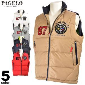大きいサイズ パジェロ PAGELO ダウンベスト メンズ 秋冬 ワッペン 軽い ロゴ 3L 95-3510-071 realtree