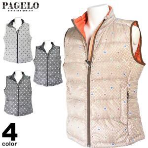 パジェロ PAGELO ダウンベスト メンズ 2019秋冬 星 水玉 ロゴ 95-3513-07 realtree