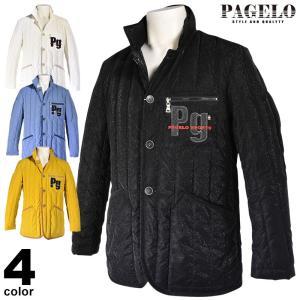 パジェロ PAGELO ダウンジャケット メンズ 2019秋冬 キルト調 ロゴ 95-4110-07c|realtree