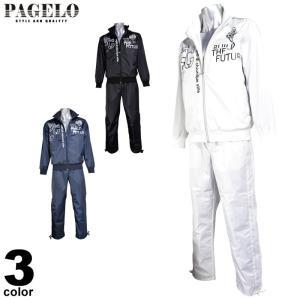 パジェロ PAGELO ブルゾン上下セット メンズ 2019秋冬 ジップアップ ロゴプリント 95-6102-06|realtree