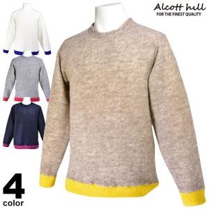 アルコットヒル ALCOTT HILL 長袖セーター メンズ 2019秋冬 2色 95-7001-10|realtree