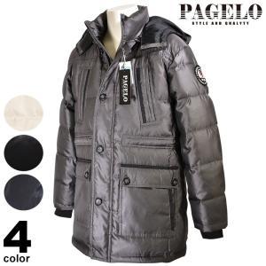 パジェロ PAGELO ダウンジャケット メンズ 2019秋冬 フード取り外し可 ロゴ 98-3121-06|realtree
