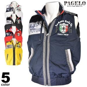 パジェロ PAGELO ジップアップベスト メンズ 2020秋冬 ロゴ プリント アップリケ 07-3520-06|realtree
