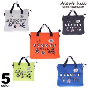 ALCOTT HILL アルコットヒル 春夏 2wayバッグ ショルダー ストラップ付 内ポケット付き メッシュ ワッペン ロゴ a0-0207-10|realtree