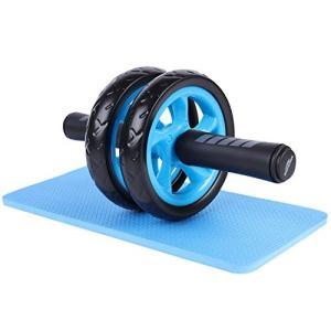 Soomloom アブホイール エクササイズウィル スリムトレーナー 超静音 腹筋ローラー エクササイズローラー 膝を保護するマット付き ( reap