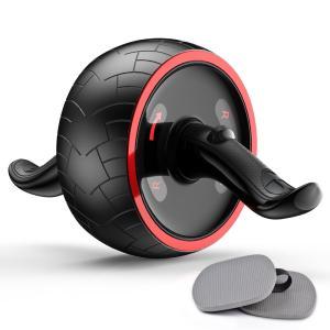 最新版腹筋ローラー アブホイール エクササイズウィル 超静音 リバウンド機能 エクササイズローラー 腹筋トレ 男女兼用 取り付け簡単 安定|reap
