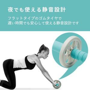 エレコム エクリアスポーツ 腹筋ローラー 幅広タイプ マット付 ホイールの幅が広くバランスがとりやすいワイドタイプ 静音 ブルー HCF-A reap