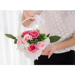 ソープフラワー 創意花かごギフトボックス 誕生日 母の日 記念日 先生の日 バレンタインデー 昇進 転居など最適としてのプレゼント reap