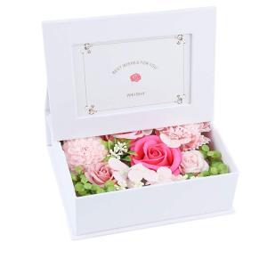 ソープフラワー 写真立て フラワー フォトフレーム ボックス 写真入り 誕生日 プレゼント 母の日 敬老の日 ギフト 枯れない花 フラワーア reap