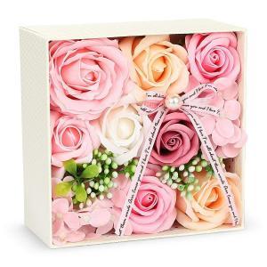 バラ型ソープフラワー 枯れない花 誕生日 記念日 母の日バレンタインデー 昇進 転居など最適としてのプレゼント 創意ギフトボックス メッセー reap