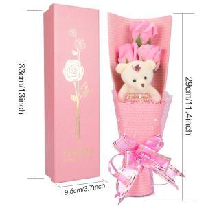 Yobansa 造花 ソープ フラワー プレゼント 枯れない お花 薔薇 花束 かわいいクマ 石鹸 バラ ブーケ プレゼント 誕生日 結婚 reap