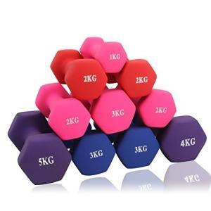 ダンベル 「2個セット1kg 」「ソフトコーティングで握りやすい」筋力トレーニング 筋トレ シェイプ|reap