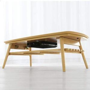折りたたみ こたつ テーブル 一年中使える センターテーブル ローテーブル 〔120×60cm〕 ウ...