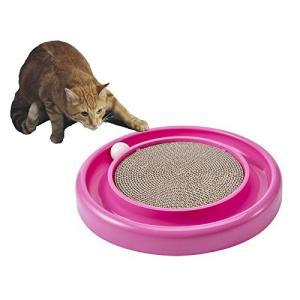 FATA FAMA 猫 おもちゃ ボールディスク アミューズメントプレート 爪とぎ用パッド ねこのお...