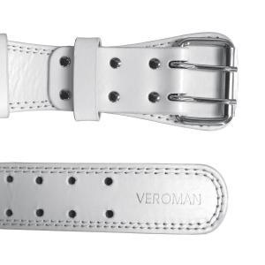 Veroman トレーニングベルト レザー ウエイト リフティングベルト メンズ (白(ホワイト) ウエスト62-96cm)|reap