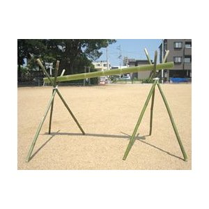流しそうめんの竹基本セット(水路1.8m×1)+脚(1.2m)×2組|rear-colle