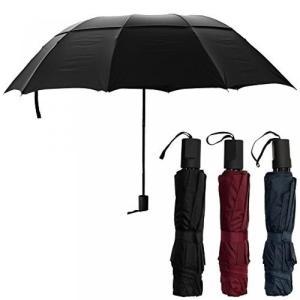 BIGサイズ 耐風機能搭載 折り畳み傘 10本骨 BIG 携帯 折りたたみ 雨傘 かさ カサ 梅雨 雨具  ブラック NS-BIGUMB-BK|rebias