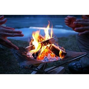 ファイヤー アウトドア メッシュ シート ファイア スタンド BBQ キャンプ ファイヤー スタンド コンパクト 収納 バーベキュー NS-FIRE-SD|rebias