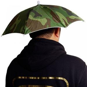 釣り傘 傘帽子 レジャーハット かぶる傘 釣り 屋外作業 フィッシング 釣り ルアー 折り畳み 雨天 ハンズフリー アウトドア キャンプ 日差し NS-HEADUMB|rebias