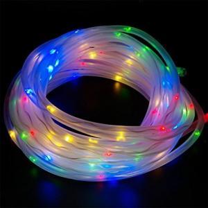 イルミネーションライト LEDチューブ LED ソーラー ガーデンライト クリスマス ハロウィン イベント パーティー ライト 飾装 カラフル NS-LEDTUBE-CA|rebias