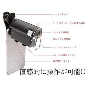 スマホ用 高性能 マイクロスコープ 60倍 〜 100倍 クリップレンズ マクロ ズーム 顕微鏡 スマートフォン iPhone Android レンズ NS-SMASCO|rebias