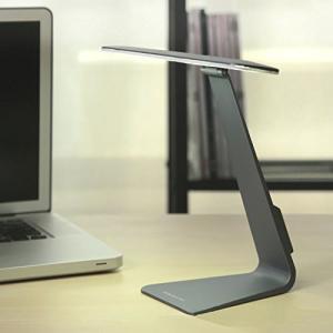 薄型 iMac 風 LED デスクライト 極薄 28灯 シンプル スタイリッシュ 3段階 調光 USB 充電 ダークグレー NS-GE-MACLAMP-GY|rebias