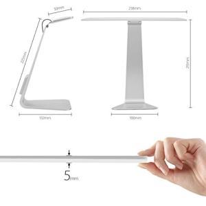 薄型 iMac 風 LED デスクライト 極薄 28灯 シンプル スタイリッシュ 3段階 調光 USB 充電 シルバー NS-GE-MACLAMP-SV|rebias