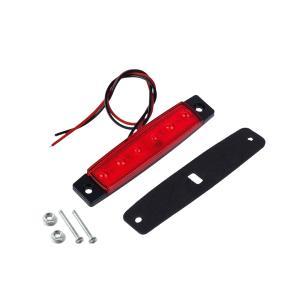LED 6連 マーカーランプ 角型 サイドマーカー 正面発光 トラック 車 汎用 外装|rebias