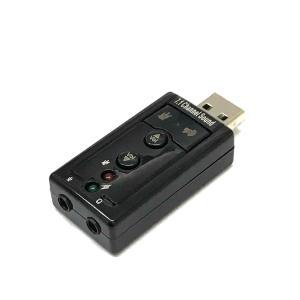 7.1ch サウンド USB アダプタ オーディオ バーチャル サラウンド ヘッドホン 端子 増設|rebias