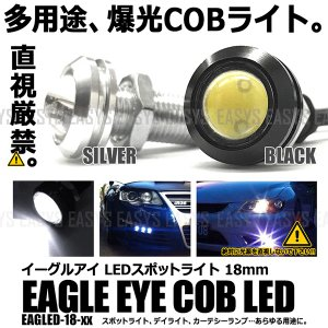 イーグルアイ LED スポットライト 2個セット COB ボルト型 デイライト フォグ カーテシー 外装|rebias
