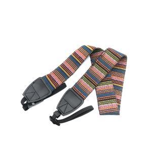 カメラ ストラップ カラフル ストライプ デジカメ バンド ネック 一眼レフ 安定 落下 防止 安心 安全 rebias