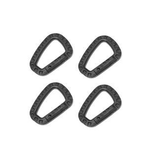 ミリタリー カラビナ 4個セット タクティカル D型 アクセサリー キーホルダー フック ロック|rebias