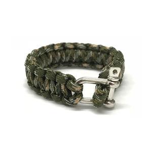 パラコード ブレスレット ミリタリー お守り 小物 手首 編み込み ファッション ロープ|rebias