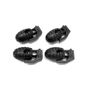 グレネード コード ストッパー 4個セット 滑り止め バックル ロック 手榴弾型|rebias