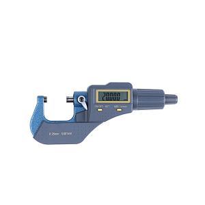 デジタル マイクロメーター 精密測定 0.001mm単位 ラチェットストップ式 測定範囲 0-25mm|rebias