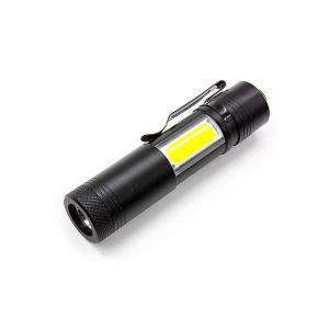 2WAY スーパー フラッシュライト 2光源 COB LED 電池式 単3 レジャー アウトドア キャンプ 修学旅行 メンテナンス|rebias