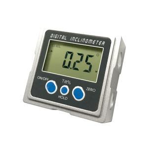 デジタル角度計 傾斜計 水平器 レベルBOX 金属ボディ 磁石内蔵 測定範囲 0〜360° DIY 電池式 スーパーデジタルレベル|rebias