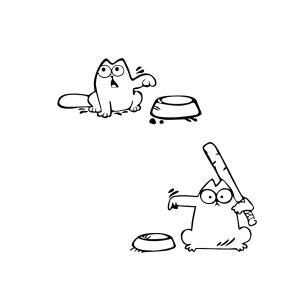 腹ペコ にゃんこ ステッカー 猫 おねだり cat 餌 ガソ リン 給油口 車 バイク 家電|rebias