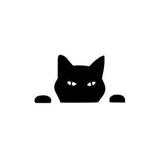 ひょっこり 猫 ステッカー にゃんこ cat フェイス 車 バイク 家電 のぞき ネコ|rebias