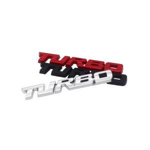 汎用 ステッカー TURBO ターボ 3D 立体 エンブレム 走り屋 ドリフト クール カスタム ステッカー カーステッカー|rebias