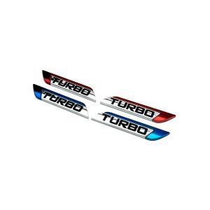 ターボ プレート エンブレム TURBO ステッカー 汎用 走り屋 カスタム ドレスアップ カーパーツ|rebias